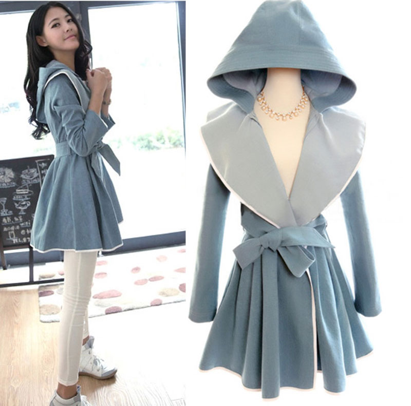 2015 Spring Korean Style Simple Fashion Long Trench Coat On Luulla